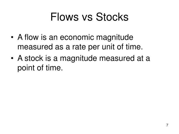 Flows vs Stocks
