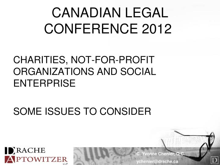 Canadian legal conference 2012
