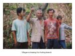 villagers showing the fruiting branch