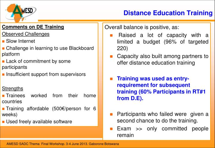 Distance Education Training