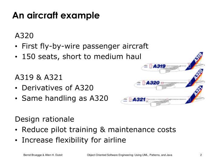 An aircraft example