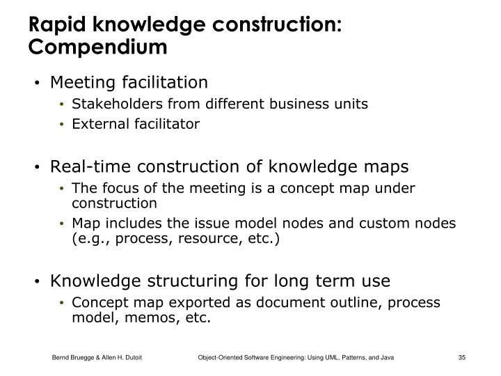 Rapid knowledge construction: Compendium