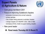 expert panels i agriculture nature