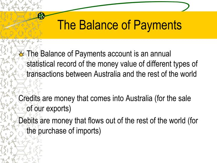 The Balance of Payments