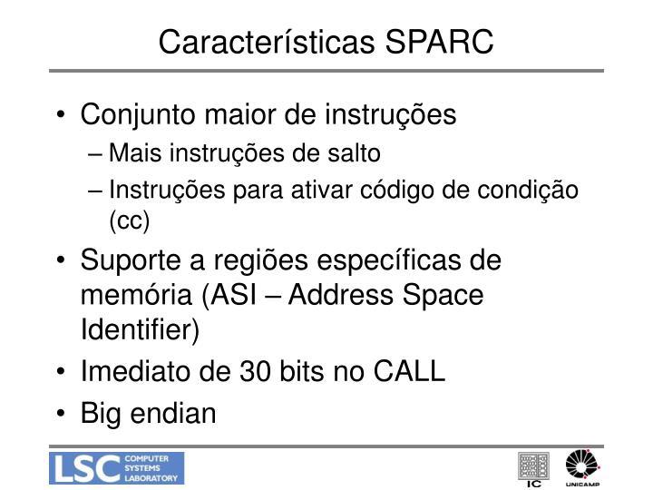 Características SPARC