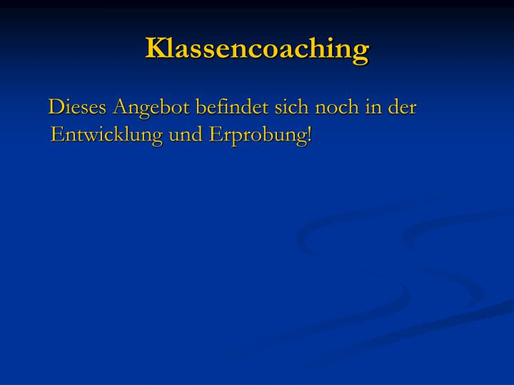Klassencoaching
