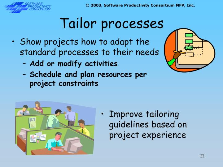 Tailor processes
