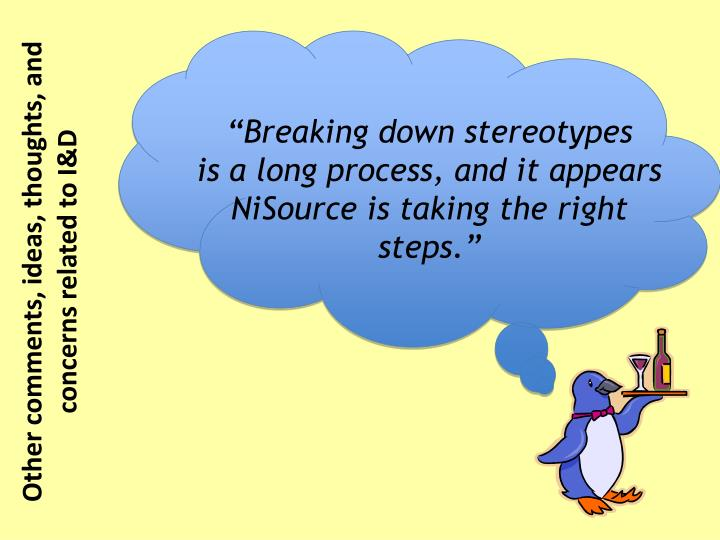 """Breaking down stereotypes"