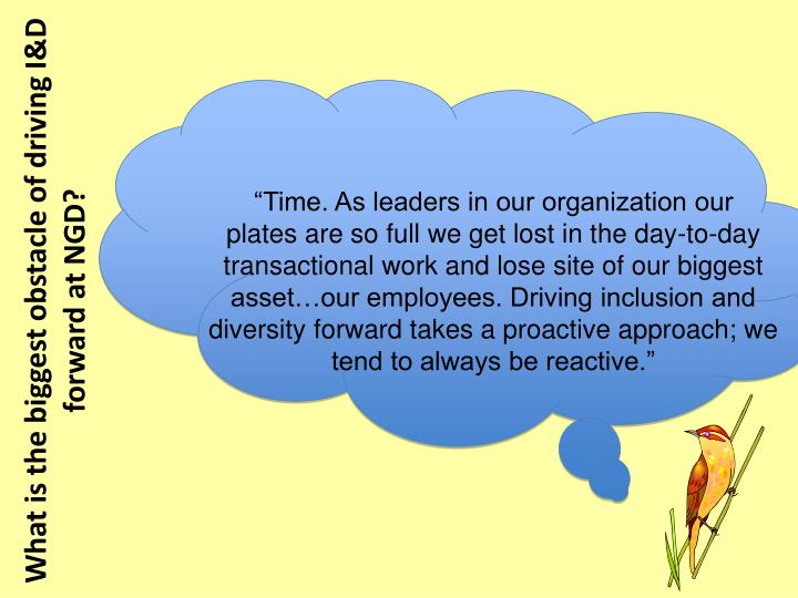 """Time. As leaders in our organization our"