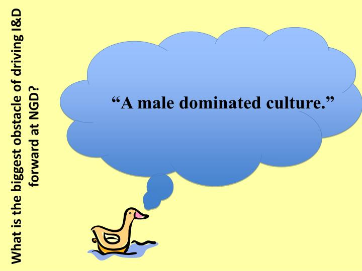 """A male dominated culture."""