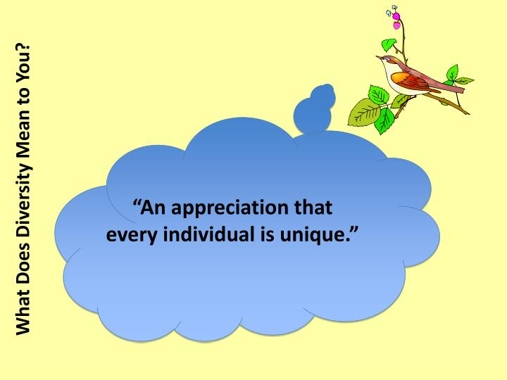 """An appreciation that"