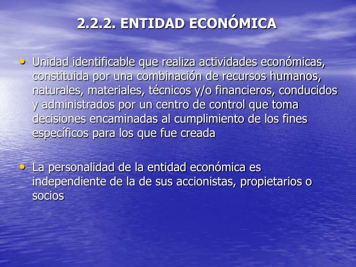 2.2.2. ENTIDAD ECONÓMICA