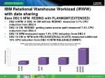 ibm relational warehouse workload irww with data sharing