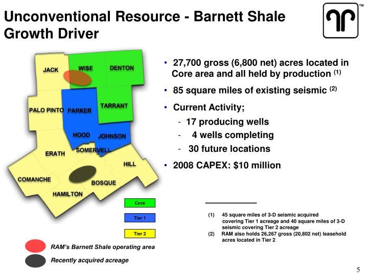 Unconventional Resource - Barnett Shale