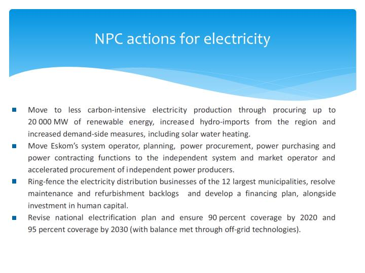 NPC actions for electricity