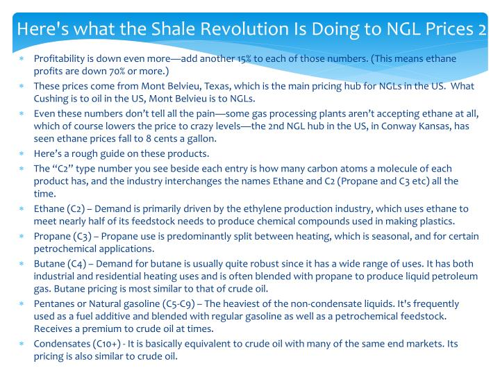 Here's what the Shale Revolution Is Doing to NGL Prices 2