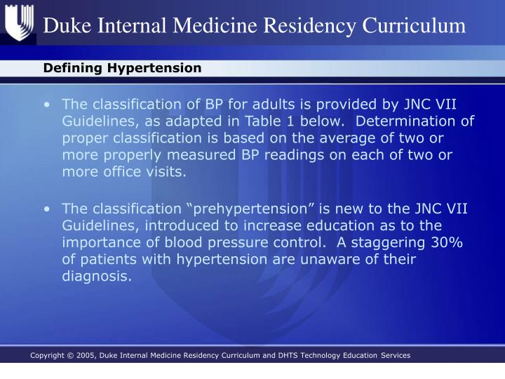 Defining hypertension