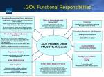gov functional responsibilities