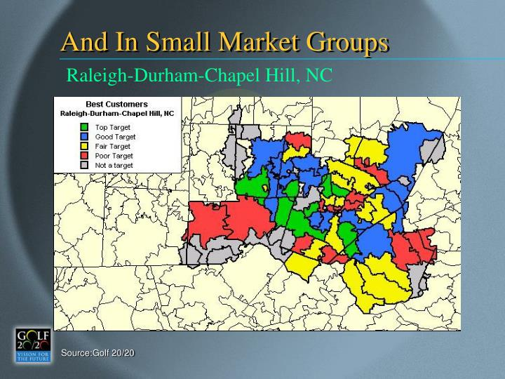 And In Small Market Groups