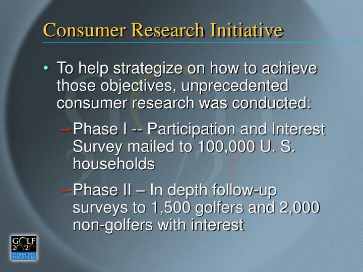 Consumer Research Initiative