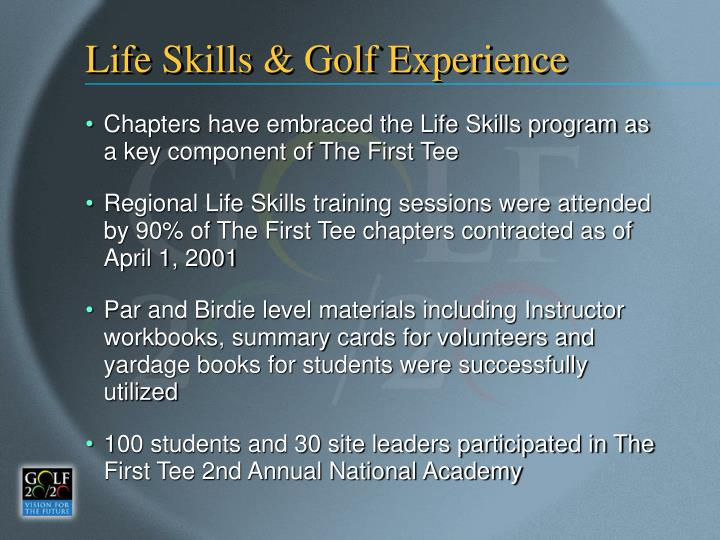 Life Skills & Golf Experience