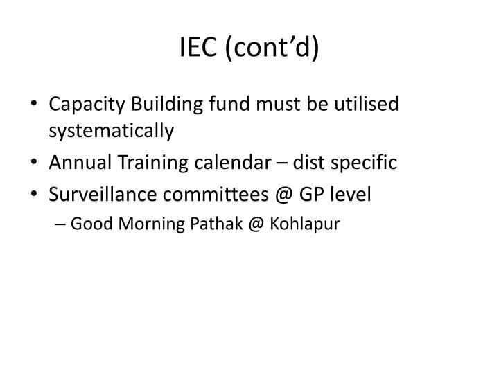 IEC (cont'd)