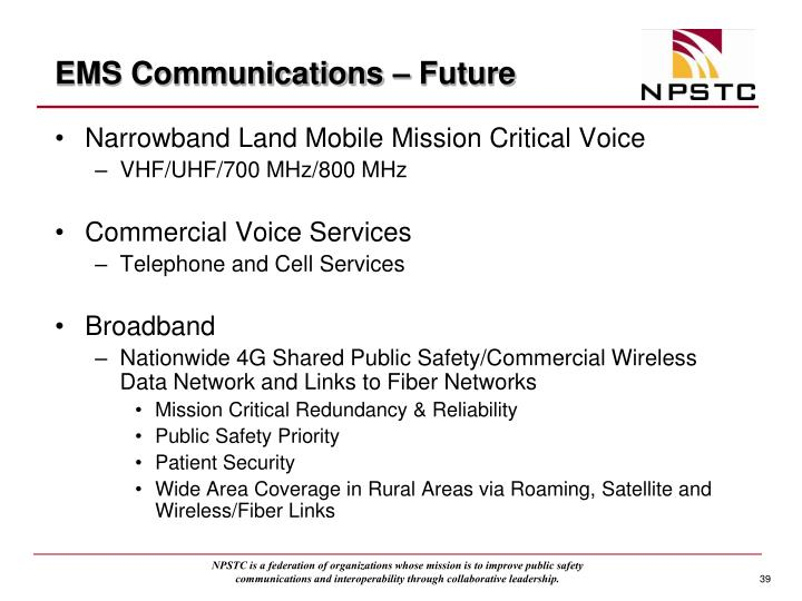 EMS Communications – Future