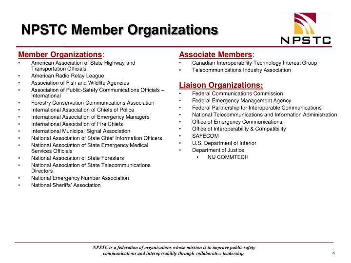 NPSTC Member Organizations