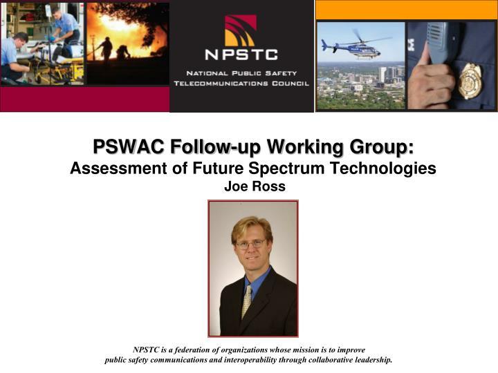PSWAC Follow-up Working Group: