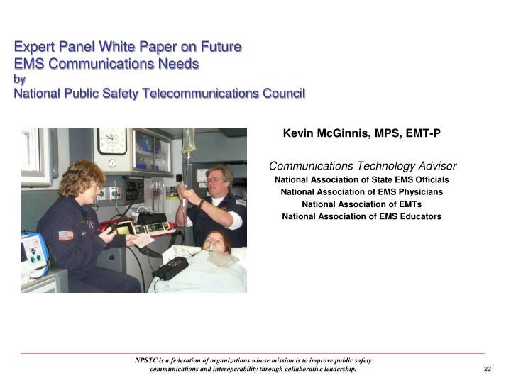 Expert Panel White Paper on Future
