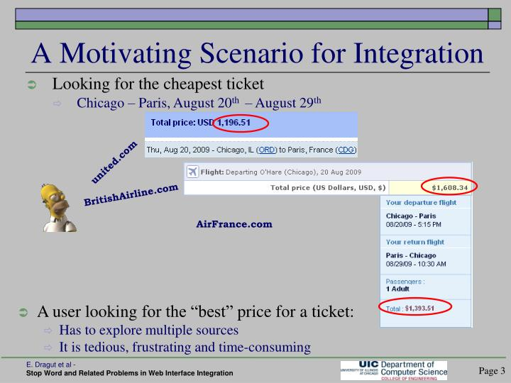 A motivating scenario for integration