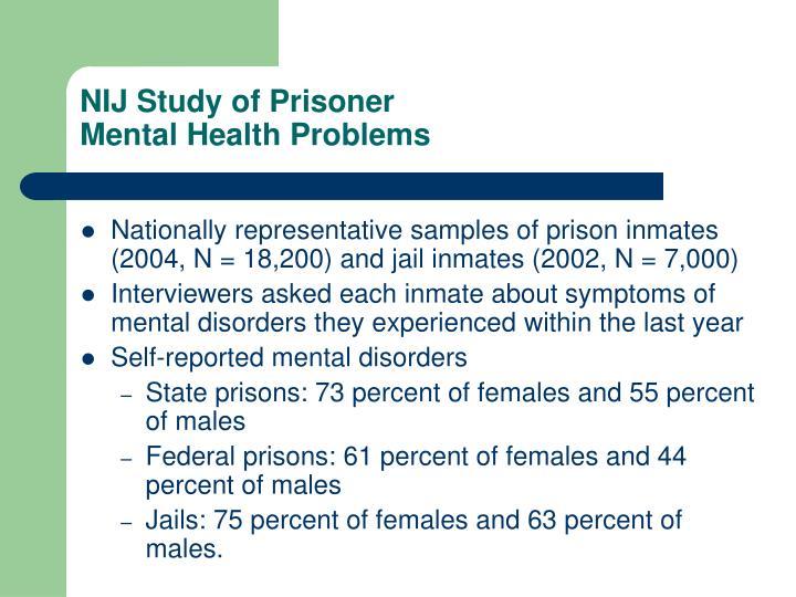 nij study of prisoner mental health problems n.