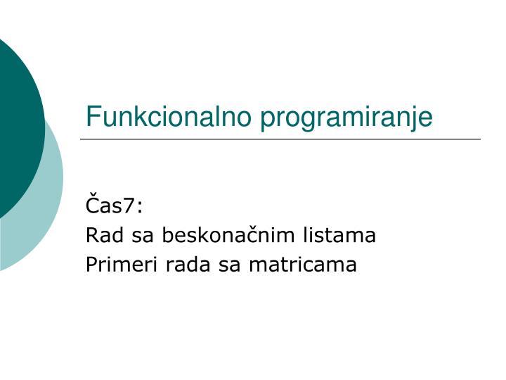Funkcionalno programiranje