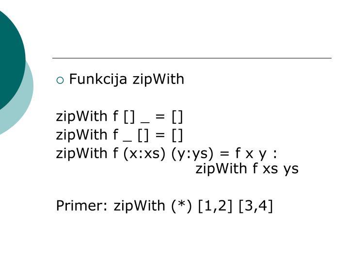 Funkcija zipWith