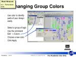 changing group colors
