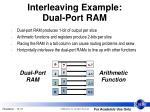 interleaving example dual port ram