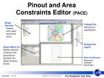 pinout and area constraints editor pace1