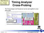 timing analyzer cross probing