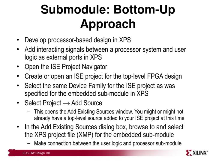 Submodule: Bottom-Up Approach