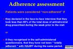 adherence assessment
