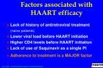 factors associated with haart efficacy