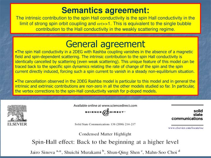 Semantics agreement: