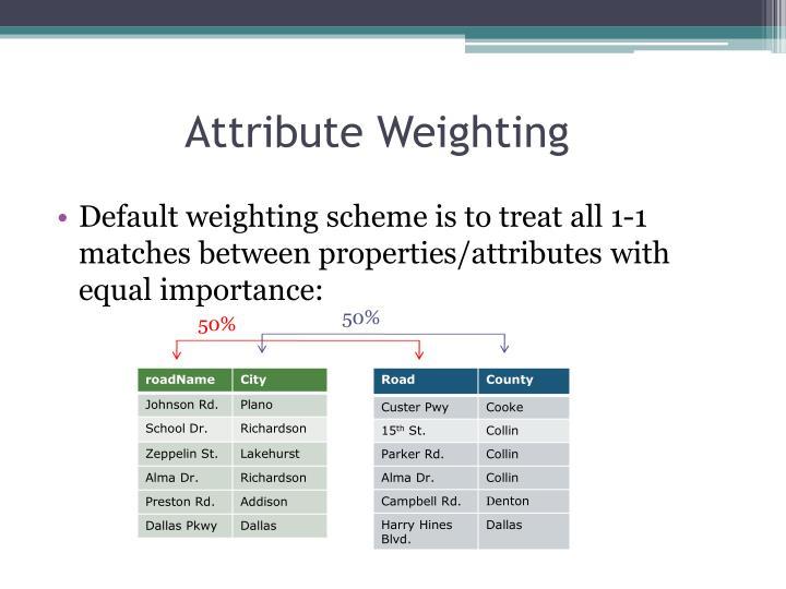 Attribute Weighting