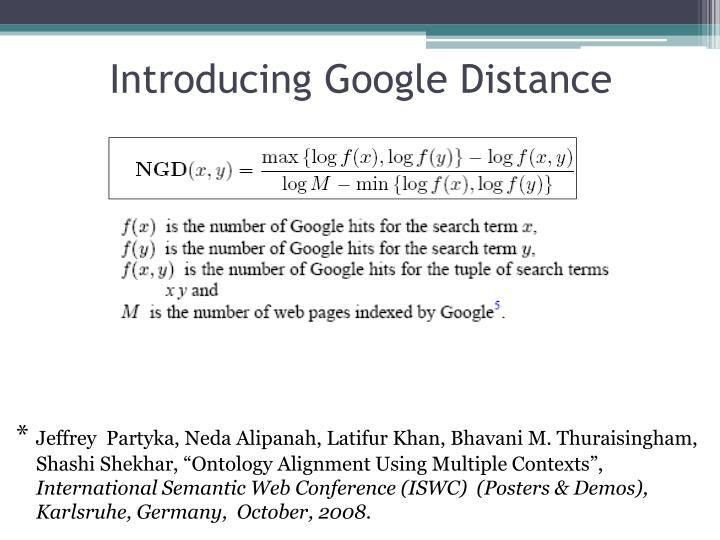 Introducing Google Distance