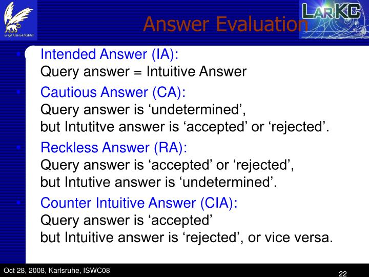Answer Evaluation