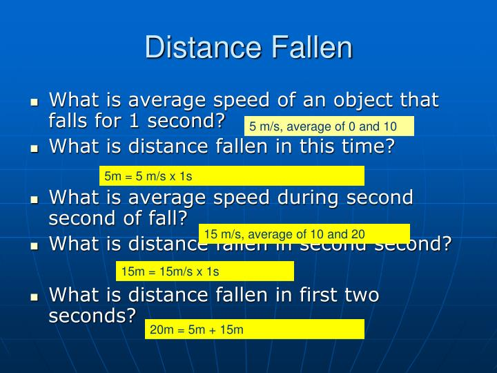 Distance Fallen