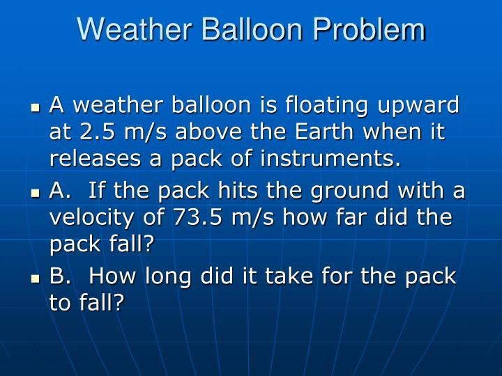 Weather Balloon Problem