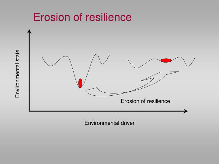Erosion of resilience