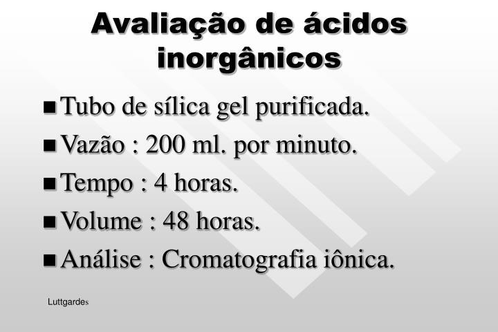 Avaliação de ácidos inorgânicos