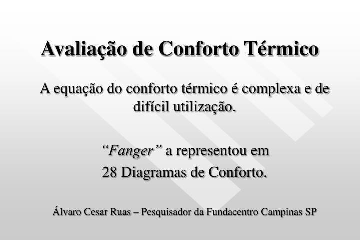 Avaliação de Conforto Térmico
